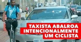 Taxista Abalroa INTENCIONALMENTE Ciclista