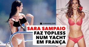 Sara Sampaio Apanhada a Fazer Topless num Yacht em França