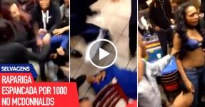 Rapariga Espancada por 1000 no McDonald's