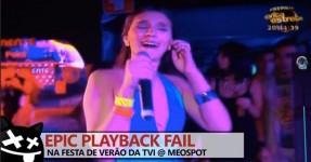 Mega Playback Fail na Festa de Verão da TVI