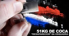 51kg de Coca Desaparecem nas Barbas da Polícia