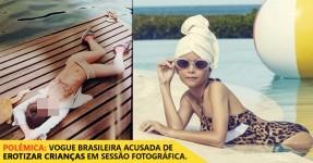 Vogue Brasileira Acusada de Apelar a Erotismo com Crianças