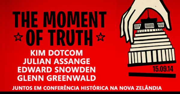 THE MOMENT OF TRUTH: Kim Dotcom, Snowden, Assange Falam!