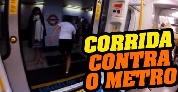 Rapaz Tenta Correr à Velocidade do Metro de Londres