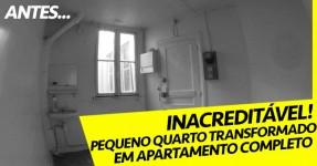 Espaço Minúsculo Transformado em Apartamento Completo