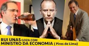 Rui Unas Goza com Ministro da Economia (Pires de Lima)