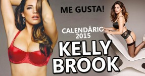 Calendário Sexy de Kelly Brook para 2015