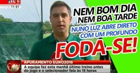 Nuno Luz Manda FODA-SE em Direto na SIC Notícias