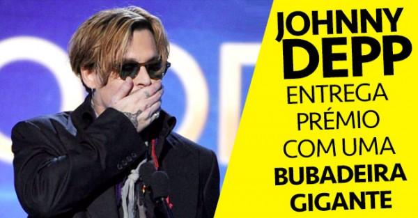 Johnny Depp: Bubadeira Épica numa Entrega de Prémios