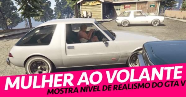 Mulher a Conduzir no GTA mais Realista de Sempre