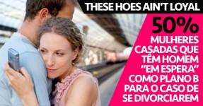 """Metade das Mulheres Casadas têm Homem """"Em Espera"""""""