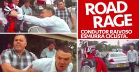 ROAD RAGE: Maluco sai do Carro para Bater a Ciclista