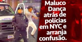 Maluco Põe-se A Dançar Atrás de Polícia e Arranja Problemas