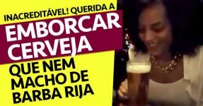 Rapariga é MEGA BOSS a Emborcar Cerveja