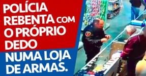 Polícia Rebenta com o Seu Próprio Dedo ao Comprar Arma