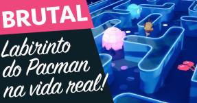 GENIAL: Jogo de Pacman na VIDA REAL