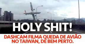 Dashcam Filma a Queda do Avião no Taiwan
