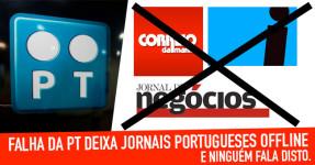 Falha da PT Deixa Jornais Portugueses Offline