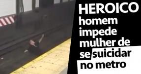 Homem Impede Rapariga de Se Suicidar na Linha do Metro