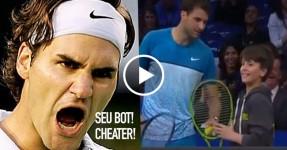 Roger Federer Ownado por um Puto de 12 Anos