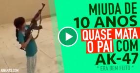 Menina de 10 Anos Dispara AK-47. Quase Mata o Pai