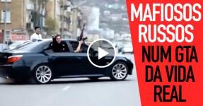 Mafiosos Russos Param o Trânsito e Disparam AK-47s