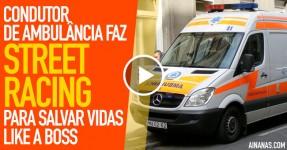 Condutor de Ambulância Voa por Entre o Trânsito