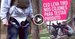 CEO leva tiro nos Cojones para Testar Produto
