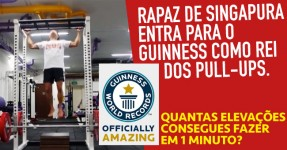 Rapaz Quebra Record do Guinness de Pull-ups