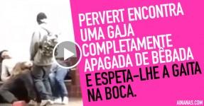 Sick Perv Espeta a Gaita na Boca de uma Bêbada no Metro