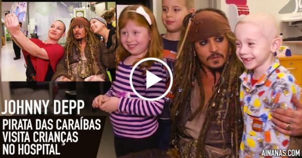 Pirata das Caraíbas Visita Crianças no Hospital