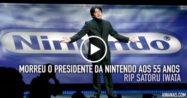 Morreu o presidente da Nintendo, Satoru Iwata