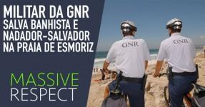 Militar da GNR salva banhista e nadador-salvador em Esmoriz
