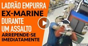 Ladrão Empurra EX-Marine Durante um Assalto… Lixa-se!