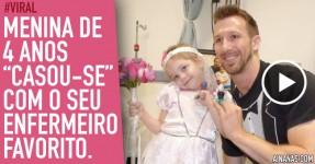 "Menina de 4 Anos ""Casou"" com o Enfermeiro e Tornou-se Viral"