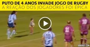 Puto de 4 Anos Invade Jogo de Rugby. A Reação dos Jogadores foi Brutal!