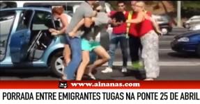 Porrada de Emigrantes Tugas na Ponte 25 de Abril