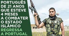Português que Combatia Estado Islâmico Regressa a Portugal