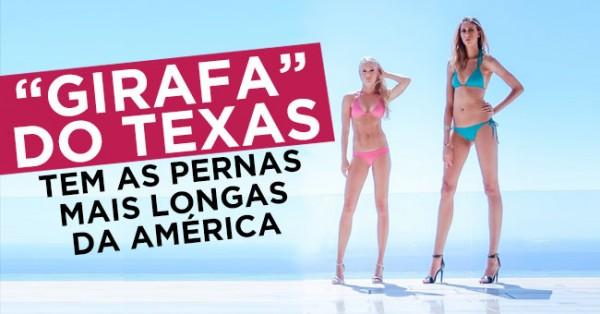 """""""Girafa do Texas"""" tem Pernas Mais Longas da América"""