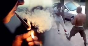 Pai Apanha o Filho a Fumar Ganzas e dá-lhe um Tareão