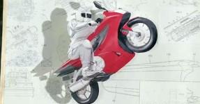 Honda Homenageia a sua História com Obra de Arte Épica