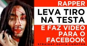 Rapper Leva Tiro na Testa e Faz Video para o Facebook em Vez de Ir para o Hospital