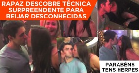 Rapaz Descobre Técnica Surpreendente Para Beijar Desconhecidas