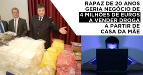 Rapaz de 20 Anos Geria Negócio de Droga de 4 Milhões de Euros
