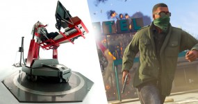GTA V a bombar num Mega Simulador de 100k USD