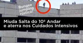 Rapariga Salta do 10º Andar Presa por uma Corda.. e Aterra nos Cuidados Intensivos