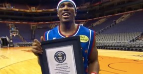 Rookie dos Globetrotters Bate Recorde Mundial