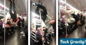 OMG! Show épico numa carruagem de metro