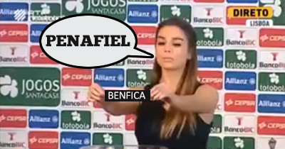 Barraca no Sorteio da Taça (Penafiel – Benfica)