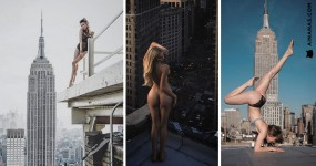 Japonês Fotografa Mulheres Lindas nos Telhados do Mundo